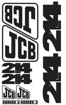Kit de Autocolantes para JCB 214