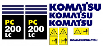 Kit de Autocolantes para KOMATSU PC200 LC
