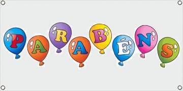 Lona de Aniversário - Parabéns