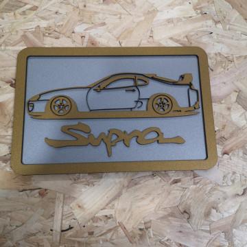Moldura 3D em MDF com Toyota Supra