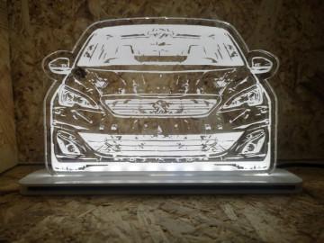 Moldura / Candeeiro com luz de presença - Peugeot 308
