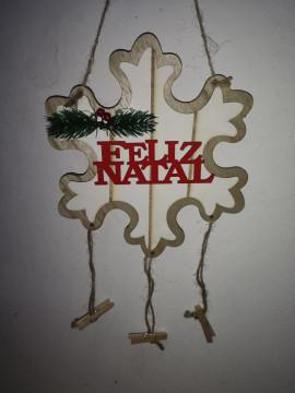 Ornamento Floco - Feliz Natal