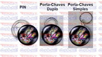Pin / Porta Chaves - Mão Bomb Sticker