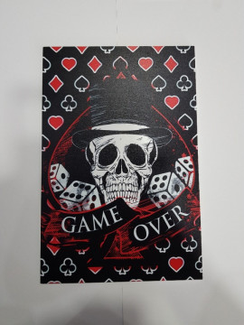 Placa Decorativa em PVC - Game Over