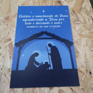 Placa Decorativa em PVC - Nascimento de Jesus