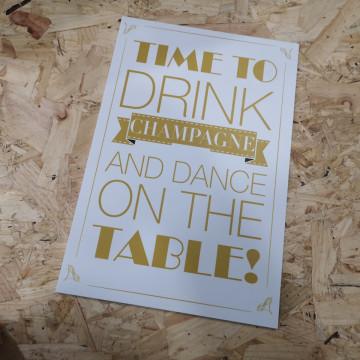 Placa Decorativa em PVC - Time to Drink