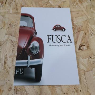 Placa Decorativa em PVC - Vw Carocha Fusca