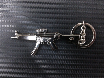 Porta Chaves - Arma MP5 Prateada