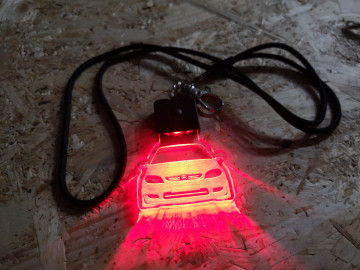 Porta Chaves com luz Multicor com Citroen saxo