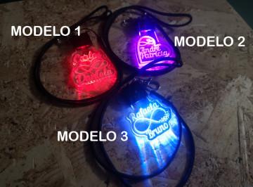 Porta Chaves com luz Multicor - Nomes