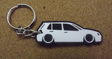 Porta Chaves com silhueta de Volkswagen Golf IV / MKIV  - 5 Portas
