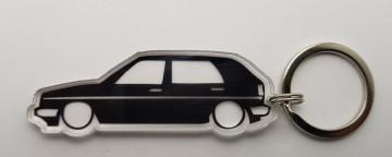 Porta Chaves de Acrílico com silhueta de Volkswagen Golf MKII 5P