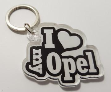 Porta chaves em acrílico com I Love My Opel