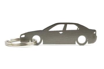Porta Chaves em inox com silhueta com Alfa Romeo 156