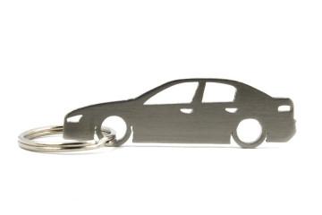 Porta Chaves em inox com silhueta com Alfa Romeo 159