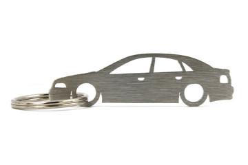 Porta Chaves em inox com silhueta com Audi A4 B5 limousine