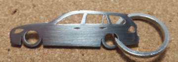 Porta Chaves em inox com silhueta com BMW E91 Touring