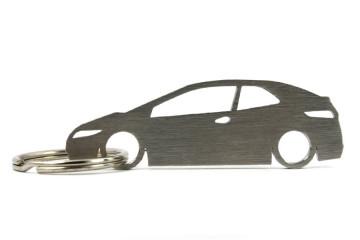 Porta Chaves em inox com silhueta com Honda Civic (8gen)