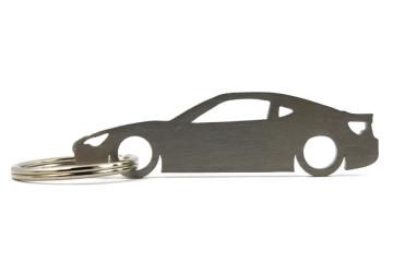 Porta Chaves em inox com silhueta com Toyota GT86