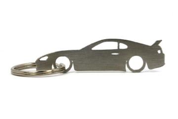 Porta Chaves em inox com silhueta com Toyota Supra MK4