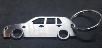 Porta Chaves em inox com silhueta com Volkswagen Golf 3 5 Portas