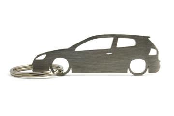 Porta Chaves em inox com silhueta com Volkswagen Golf MK5 3P