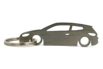Porta Chaves em inox com silhueta com Volkswagen Scirocco MK3