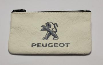 Porta moedas em pele com Peugeot