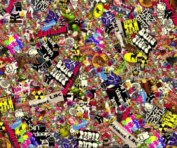 Sticker Bomb - Cartoons 6 - 29x24cm