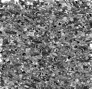 Sticker Bomb - Variado  - Preto e branco