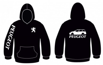 Sweatshirt com capuz para Peugeot 206 SW
