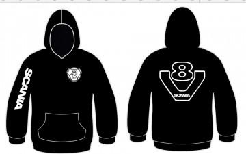 Sweatshirt com capuz para Scania V8