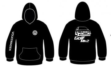 Sweatshirt com capuz para Volkswagen Golf Mk2