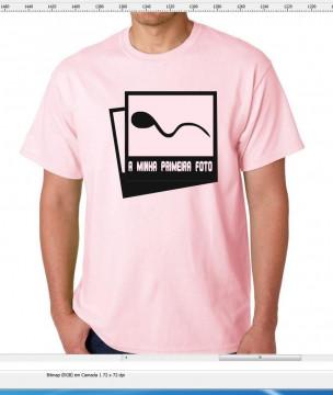 T-shirt  - A minha primeira foto