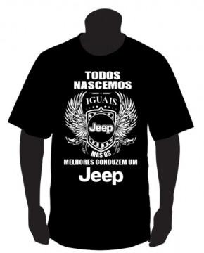 T-shirt com Todos Nascemos Iguais (Jeep)