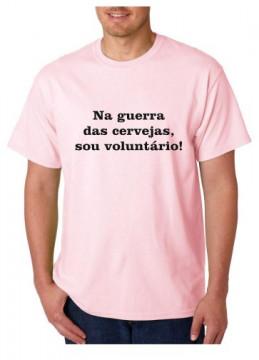 T-shirt  - Na Guerra Das Cervejas Eu Sou Voluntário