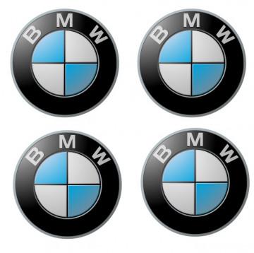4 Autocolantes Para Centros de Jantes com BMW