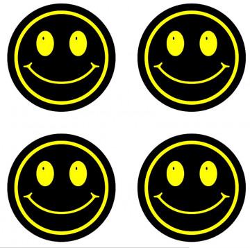 4 Autocolantes Para Centros de Jantes com SMILE