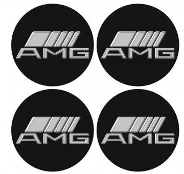 4 Autocolantes Para Centros de Jantes para AMG