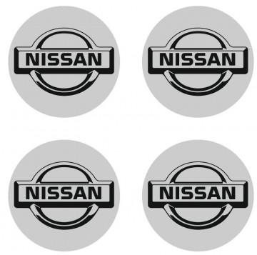 4 Autocolantes Para Centros de Jantes para NISSAN