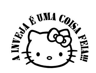 Autocolante - A inveja é uma coisa feia - Hello Kitty