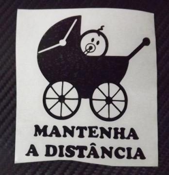 Autocolante - Bebé a Bordo-Mantenha a Distância