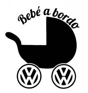 Autocolante - Bebé a bordo para VW