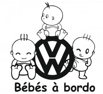 Autocolante - Bebés a bordo  para Volkswagen