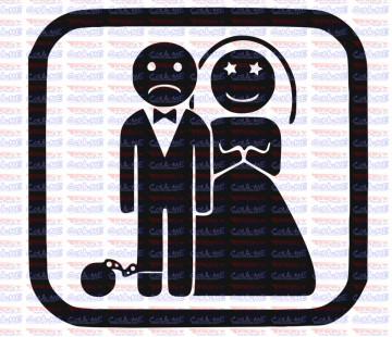 Autocolante - Casamento