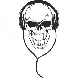 Autocolante - Caveira Headphones
