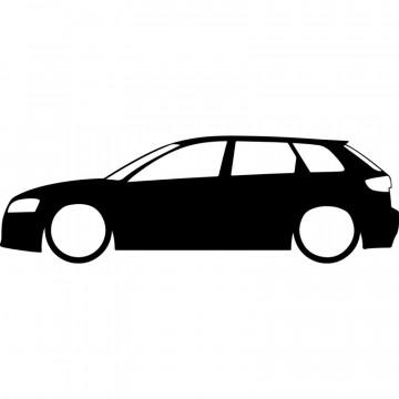 Autocolante  com Audi A3 8pa
