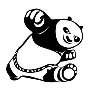 Autocolante com Panda do Kong Fu