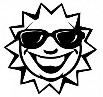 Autocolante com Sol Sorridente