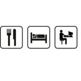 Autocolante - Comer Dormir Computador